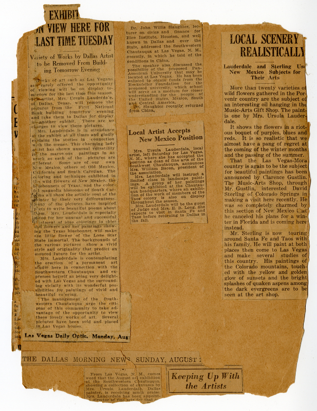 Newspaper on New Mexico