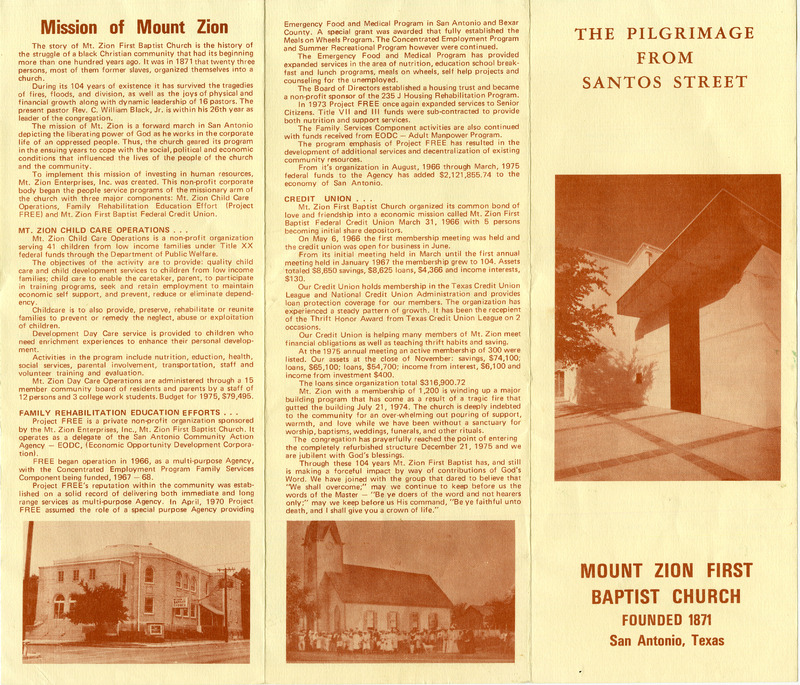 Church Mission Pamphlet