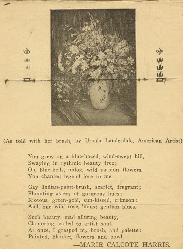 Wild flowers poem