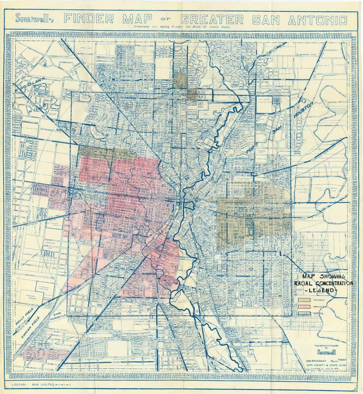 HOLC San Antonio City Survey Report 1 Exhibit B: Racial Concentrations
