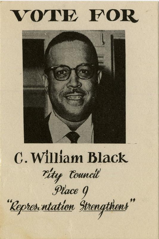 Claude Black Campaign Poster