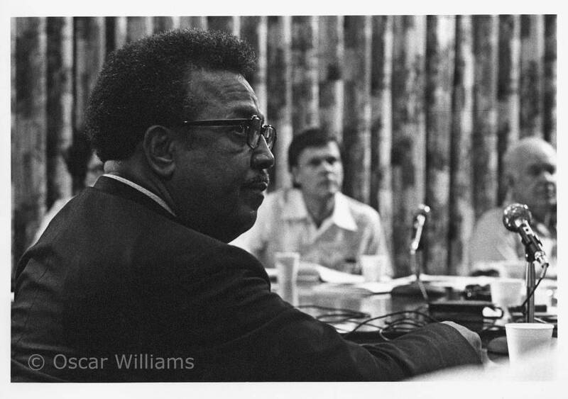 Photographs by Oscar Williams of Reverend Black, 1975