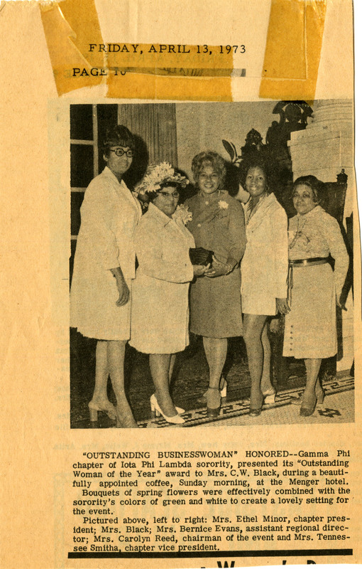 Newspaper clipping, April 13, 1973