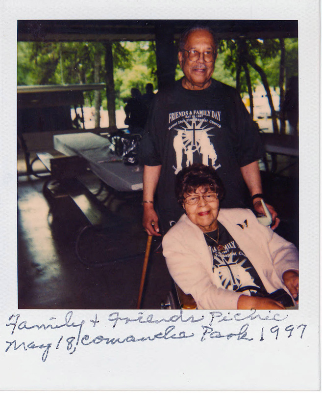 Claude and ZerNona at a Family and Friends Picnic