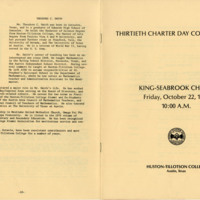 Huston-Tillotson College Thirteenth Charter Day Convocation Booklet