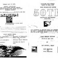 Douglass High School 50th Reunion Pamphlet