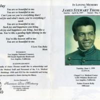 James Stewart Thomas Jr.'s Funeral