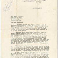 Letter from Hugh L. Umphres to Lauderdale