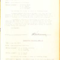 1927 Board of Trustees Executive Session Minutes